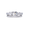 0.78 ct. Round Cut Bridal Set Ring, G, SI1 #3