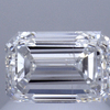 1.00 ct. Emerald Cut Halo Ring, G, SI2 #1