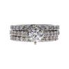 0.72 ct. Round Cut Bridal Set Ring, I, I1 #3