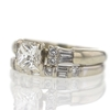 1.03 ct. Princess Cut Bridal Set Ring #3