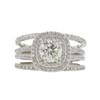 1.01 ct. Round Cut Bridal Set Ring, K, VS2 #3