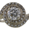 1.76 ct. Round Cut Central Cluster Ring #1