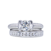 1.01 ct. Round Cut Bridal Set Ring, K, SI1 #3