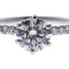 0.97 ct. Round Cut Bridal Set Ring, H-I, I1 #1