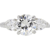 2.63 ct. Round Cut 3 Stone Ring, L, SI2 #3