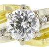 1.07 ct. Round Cut Bridal Set Ring, H, SI1 #4