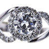 0.80 ct. Round Cut Halo Ring, F, VS2 #2
