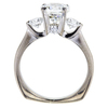 2.01 ct. Round Cut 3 Stone Ring, I, SI1 #2