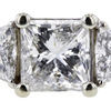 2.02 ct. Princess Cut 3 Stone Ring #4