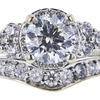 0.92 ct. Round Cut Bridal Set Ring, H-I, I1 #1