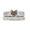 0.92 ct. Princess Cut Bridal Set Ring, D, SI2 #3