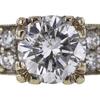 1.57 ct. Round Cut Bridal Set Ring, E, I2 #4