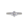 0.71 ct. Round Cut Solitaire Ring, H, SI2 #4