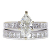 1.23 ct. Marquise Cut Bridal Set Ring, J, SI1 #3