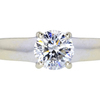 1.02 ct. Round Cut Solitaire Ring, E, I1 #3