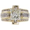 2.5 ct. Princess Cut Bridal Set Ring, K, SI2 #3