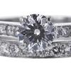1.22 ct. Round Cut Bridal Set Ring #4