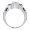 0.91 ct. Round Cut 3 Stone Ring, G, SI1 #4