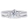 0.72 ct. Round Cut Bridal Set Ring, F, I1 #3