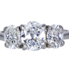 1.00 ct. Oval Cut 3 Stone Ring #1