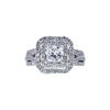 1.04 ct. Princess Cut Halo Ring, F, SI1 #3