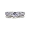 0.50 ct. Round Cut Bridal Set Ring, D, VS2 #3