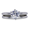 0.77 ct. Round Cut Bridal Set Ring, E, VS1 #3