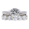 0.99 ct. Round Cut Bridal Set Ring, J, I2 #3