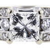 1.05 ct. Princess Cut Solitaire Ring #4