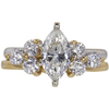 0.95 ct. Marquise Cut Bridal Set Ring, H, I1 #1