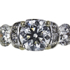 0.97 ct. Round Cut 3 Stone Ring, I, SI2 #4