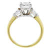 1.37 ct. Round Cut 3 Stone Ring, F, SI2 #3