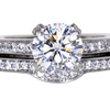 1.19 ct. Round Cut Bridal Set Ring #3