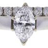 1.0 ct. Marquise Cut Bridal Set Ring, E, I1 #4