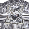 Art Deco GIA 1.50 ct. Princess Cut Bridal Set Ring, J, I1 #1