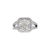 3.09 ct. Cushion Cut Halo Ring, J, SI1 #2