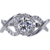 0.80 ct. Round Cut Halo Ring, F, VS2 #3