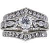 0.72 ct. Round Cut Bridal Set Ring, G, SI2 #3