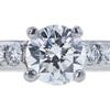 0.84 ct. Round Cut Bridal Set Ring, H, SI2 #4