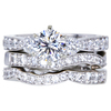 1.03 ct. Round Cut Bridal Set Ring, G, VS2 #1