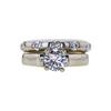 0.72 ct. Round Cut Bridal Set Ring, D, VS2 #3