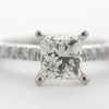 1.22 ct. Princess Cut Bridal Set Ring #2