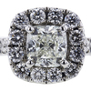 1.05 ct. Cushion Cut Bridal Set Ring, J, SI1 #4