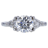 1.52 ct. Round Cut 3 Stone Ring, H, VS1 #3