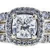1.20 ct. Radiant Cut Bridal Set Ring, H, SI2 #1