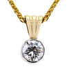 0.97 ct. Round Cut Pendant Necklace, I-J, VS2-SI1 #1