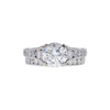 1.5 ct. Round Cut Bridal Set Ring, F, SI1 #3