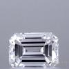 0.77 ct. Emerald Cut Bridal Set Ring, D, VS2 #1