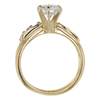 0.85 ct. Round Cut Bridal Set Ring, D, VS1 #4