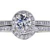 0.80 ct. Round Cut Bridal Set Ring, H, VS1 #3